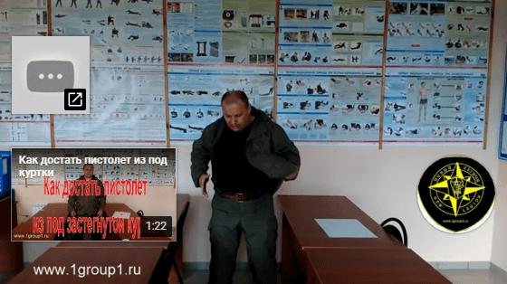 Как быстро извлечь пистолет из под застегнутой куртки
